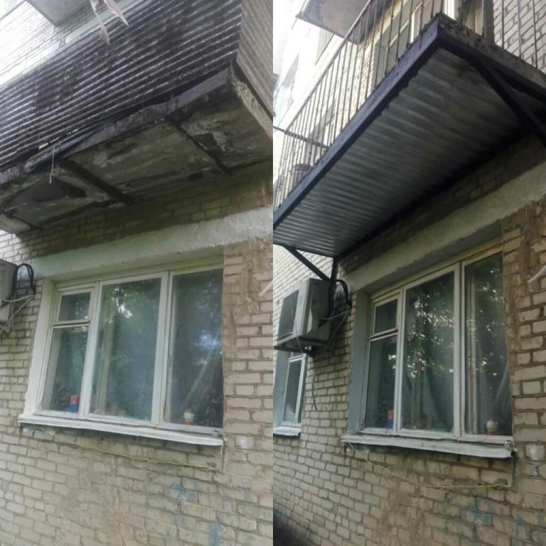 Замена балконной плиты
