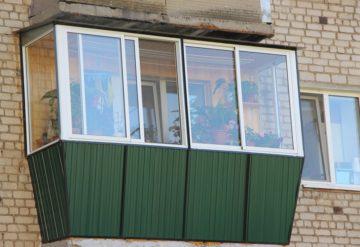 Покраска балконных блоков